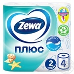 Zewa Plus Toilet paper ocean freshness 2 layers 4pcs - buy, prices for Novus - image 1