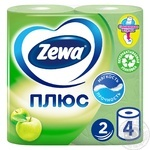 Туалетная бумага Zewa Плюс аромат яблока 2 слоя 4шт