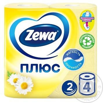 Туалетний папір Zewa Плюс з ароматом ромашки 2-х шаровий 4шт - купити, ціни на ЕКО Маркет - фото 1