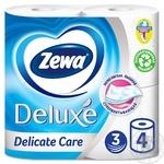 Туалетний папір Zewa Deluxe Delicate Care білий 3-х шаровий 4шт