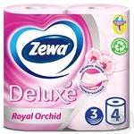 Туалетная бумага Zewa Deluxe Royal Orchid розовая 3-х слойная 4шт