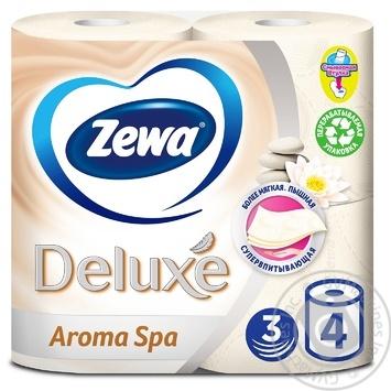 Туалетная бумага Zewa Deluxe Aroma Spa 3х слойная 4шт - купить, цены на МегаМаркет - фото 1