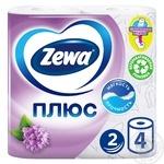 Папiр туалетний Zewa Плюс аромат бузку двошаровий 4шт - купити, ціни на МегаМаркет - фото 1