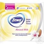 Влажная туалетная бумага Zewa Almond Milk 42шт