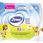 Туалетная бумага Zewa Kids влажная 42шт