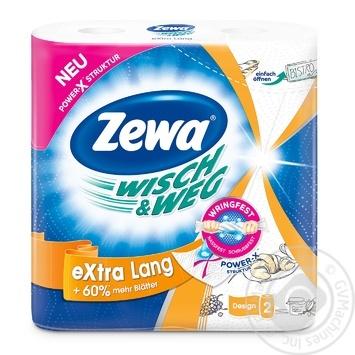 Полотенца кухонные Zewa Wish&Weg Design бумажные 72лист 2рул - купить, цены на МегаМаркет - фото 1
