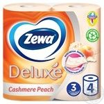 Туалетний папір Zewa Deluxe Cashmere Peach 3-х шаровий 4шт