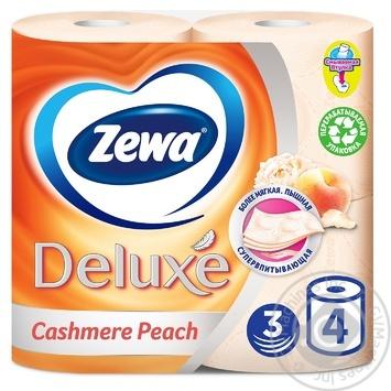 Туалетная бумага Zewa Deluxe Cashmere Peach 3-х слойный 4шт - купить, цены на ЕКО Маркет - фото 1