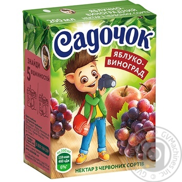 Sadochok Apple-red Grape Nectar 0.2l