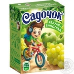 Sadochok Apple-grapes Nectar 0,2l