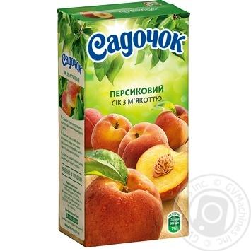 Сік Садочок персиковий 0,5л - купити, ціни на МегаМаркет - фото 1