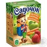 Сок Садочок яблочно-морковно-клубничный 0,2л