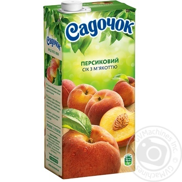 Сік Садочок персиковий 0,95л - купити, ціни на Метро - фото 1