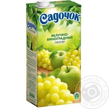 Нектар Садочок яблочно-виноградный 0,95л - купить, цены на МегаМаркет - фото 1