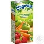 Сік Садочок яблучно-моркв'яно-полуничний 0,95л
