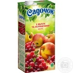 Морс Садочок Яблуко та журавлина 0,95л