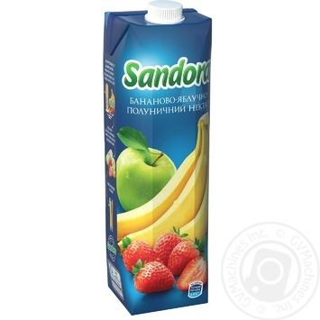 Нектар Sandora бананово-яблучно-полуничний 950мл - купити, ціни на МегаМаркет - фото 1