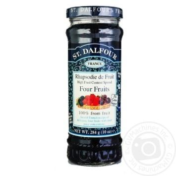 Джем Сент Далфур Четыре ягоды 284г Франция - купить, цены на МегаМаркет - фото 1