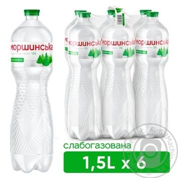 Light sparkling mineral water Morshynska 1,5l