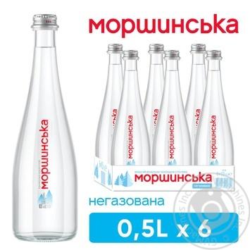 Вода мінеральна Моршинська негазована 0,5л - купити, ціни на Метро - фото 1