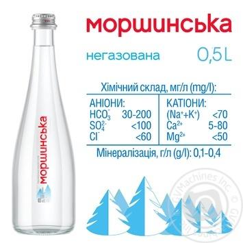Вода мінеральна Моршинська негазована 0,5л - купити, ціни на Метро - фото 2
