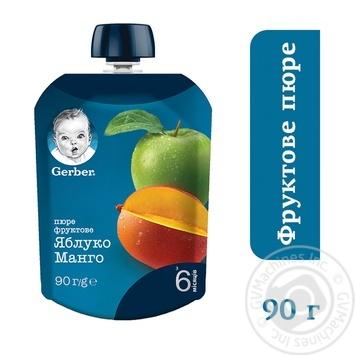Пюре Gerber Яблоко и манго для детей с 6 месяцев 90г - купить, цены на Восторг - фото 2