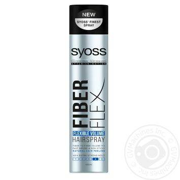SYOSS Fiber Flex Flexible Volume Hairspray 400ml - buy, prices for Novus - photo 1