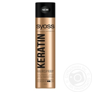 SYOSS Keratin Hairspray Extrasensory fixation 4 400ml
