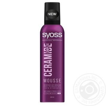 Пена-мусс для волос SYOSS Ceramide Complex Максимальная фиксация 5 250мл
