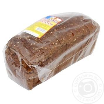 Хліб Сумська Паляниця Бородинський нарізаний 600г - купить, цены на Ашан - фото 1