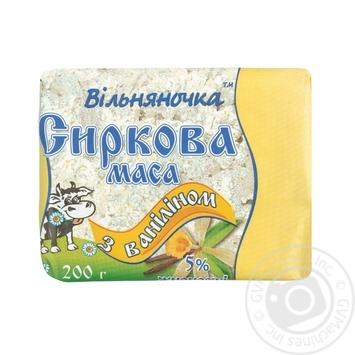 Маса сиркова Вільняночка з ваніліном 5% 200г - buy, prices for Auchan - photo 1