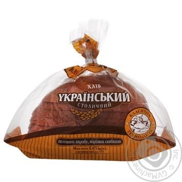 Хлеб Киевхлеб Украинский Столичный нарезка 475г - купить, цены на Ашан - фото 1