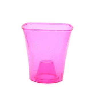 Горщик-кашпо для рослин пластиковий рожевий - купить, цены на Ашан - фото 1