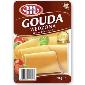 Сир Mlekovita Гоуда копчений 45% нарізний 150гр