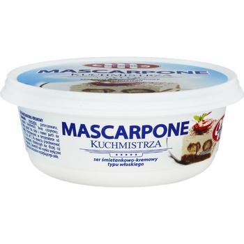Крем-сир Mlekovita Mascarpone 250г - купить, цены на Ашан - фото 1