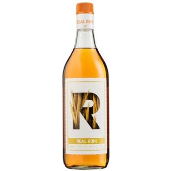 Ром Real Rum Spiced 37.5% 1л - купити, ціни на ЕКО Маркет - фото 1