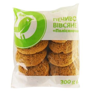Печенье овсяное Ашан Полисяночка 300г - купить, цены на Ашан - фото 1