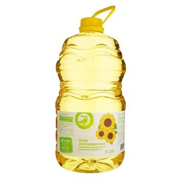 Auchan sunflower oil refined 5l - buy, prices for Auchan - photo 1