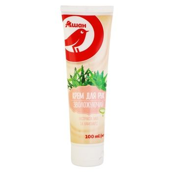Auchan Moisturizing Hand Cream 100ml - buy, prices for Auchan - photo 1