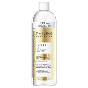 Міцелярна вода Eveline Cosmetics Gold Lift Expert 3в1 для сухої та зрілої шкіри 500мл - купити, ціни на Ашан - фото 1