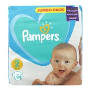 Подгузники Pampers New Baby 2 4-8кг 94шт - купить, цены на Ашан - фото 1