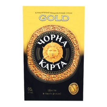 Chorna Karta Gold instant coffee 95g - buy, prices for MegaMarket - image 1
