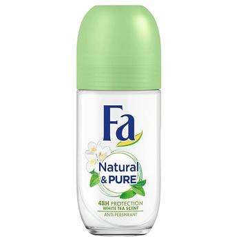 Антиперспірант-ролик Fa Natural & Pure Білий чай 50мл