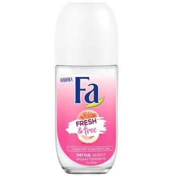 Дезодорант-ролик Fa Fresh&Free с Магний комплексом аромат грейпфрут-личи 50мл