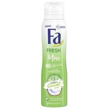 Дезодорант-спрей Fa Fresh&Free с Магний комплексом Аромат Лайм-Кокос 150мл - купить, цены на ЕКО Маркет - фото 1