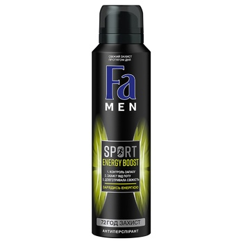 Fa Men Sport Energy Boost Deodorant 150ml - buy, prices for Auchan - image 1