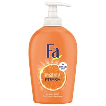 Жидкое мыло Fa Hygiene & Fresh Аромат Апельсина 250мл - купить, цены на Novus - фото 1
