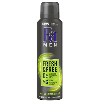 Fa Men Deodorant Fresh&Free Bodyspray Mint&Bergamot 150ml - buy, prices for CityMarket - photo 1