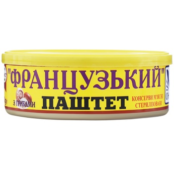 Oniss French With Mushrooms Liver Pate 240g - buy, prices for Novus - image 1