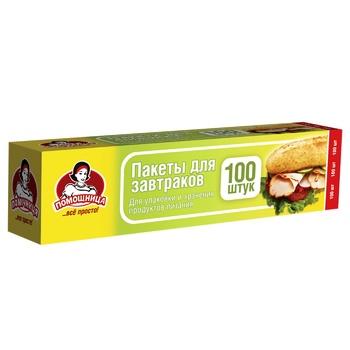 Пакеты для завтраков Помощница 100шт - купить, цены на Ашан - фото 1